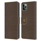 HEAD CASE DESIGNS BUSY BEE PATTERNS LEATHER BOOK CASE FOR APPLE iPHONE PHONES