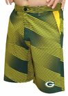 """Green Bay Packers NFL """"Diagonal Striped"""" Men's Casual Polyester Walking Shorts"""