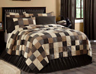 KETTLE GROVE QUILT - choose size & accessories -Primitive Black Plaid VHC Brands image