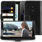 Sony Xperia XZ2 Case Real Genuine Leather Slim Folio Photo ID Stand Wallet Cover