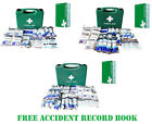 1-10 1-20 HSE Compliant Large First Aid Kit Bag Box Refills Accident Book CE