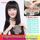 Paidian Silk Base Human Hair Topper Hairpiece Toupee Top Replacement For Womens