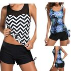 Women Ladies Swimwear Two Piece Swimsuits Tankini sets & Boy Shorts  Plus Size