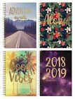 A5 2018-2019 Mid Year Week To View Academic Student Diary Hardback Spiral 3095