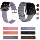 For Fitbit Versa Tracker Replacement Strap Wrist Bands w/ Stainless Metal Clasp image
