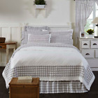 ANNIE BUFFALO GREY CHECK QUILT SET-choose size & accessories-white VHC Brands image