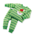 Mud Pie Baby SANTA LONG JOHNS 130264 Christmas Holiday I Believe Collection