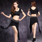 Plus Size New 2018 Women Belly Dance Costumes Short Sleeves TopSkirt M L XL