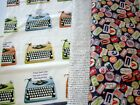 LETTERPRESS by Northcott  typewriters quotes words - QUILTING 100% COTTON FABRIC
