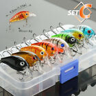 Minnow Fishing Lures Bass Crankbait Hooks Tackle Crank Baits   Fishing Box
