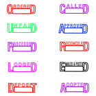 """Ordered"" or Personalised Text Name Signature  Rubber Flash Stamp Self Inking"