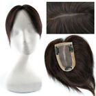 """Base2.7 """"x 3.9"""" Women Top Replacement Hair Toupees Clip in human Hair Extension"""