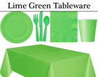 Lime Green Party Tableware - Plates, Napkins, Cutlery, Cups & Tablecover