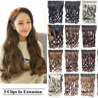 47 colors 23.6'' Long 3/4 Full One Piece Only Wave Curly Clip In Hair Extension