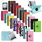 For iPad Mini 1 2 3 Retina 360 Rotating Leather Case Smart Stand Cover+Protector