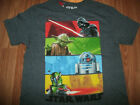 Star Wars Boys *XS L XL* Short Sleeve Shirt Blue Darth Vader R2D2 Yoda Boba Fett $6.99 USD on eBay