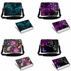Universal Laptop Notebook Sleeve w Shoulder Strap Matching Skin Fit up to 13.3""
