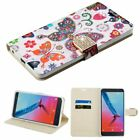 Luxury Leather Wallet Card Stand Diamond Flip Case Cover For ZTE Mobile Phones