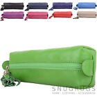 Ladies / Women Soft Leather Prime Hide Cosmetics / Make Up / Pencil Case / Pouch