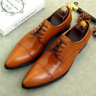 New Mens Lace Up British Real Leather Dress Business Formal Fashion Summer Shoes