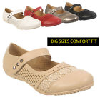 Womens Ladies Flat Ballet Heel Court Shoes Office Big Plus Large Size Sandals UK