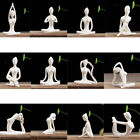 Ceramic Yoga Figurine Statue Collections Craft Gift Home Zen Garden Decor