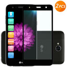 LG X Charge / X Power 2/ Fiesta [2 Pack] Black Tempered Glass Screen Protector