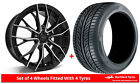 Alloy Wheels & Tyres 7.5x17 GEN2 Axiom 5 Black Polished Face + 2055017 Tyres