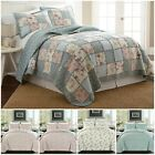 3-Piece Floral Garden Vintage Washed 100% Cotton Reversible Bedspread Quilt Set image