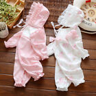 Newborn baby infant girls cotton bodysuit hat outfits jumpers baby shower gift