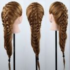 100% 90% Real Human Hair Salon Head Training Mannequin Doll Makeup with Clamp