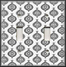 Metal Light Switch Plate Cover Moroccan Decor Grey And White Moroccan Pattern