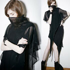 PUNK RAVE VISUAL KEI TREND PQ102 BLACK PATTERN MAX DRESS