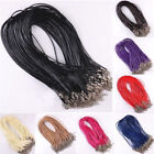 10pcs Leather Round Braided Thong Necklace Bracelet Cords Lobster Clasp Jewelery