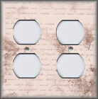 Metal Light Switch Plate Covers Rose Pink Shabby Chic Decor Aged Script Decor