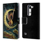 OFFICIAL MYLES PINKNEY ART LEATHER BOOK WALLET CASE COVER FOR LG PHONES 2