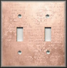 Metal Light Switch Cover Vintage Rose Pink Shabby Chic Decor Script Damask