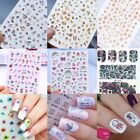 2Sheets/Set Nail Art 3D Sticker + Water Decals Transfer Stickers  Tips
