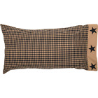 BLACK CHECK STAR QUILT-choose size & accessories-Tan Primitive Rustic VHC Brands