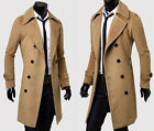 Herren Trenchcoat Business Winterjacke Sakko Lang Slim Fit Mantel Sweatjacke Top