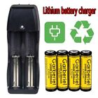 Lot Garberiel 3.7V Li-ion 1200Mah Rechargeable 14500/AA Battery&US Smart Charger