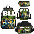 Boys Roblox Big School Backpack Insulated Lunch Box Pencil Case Shoulder Bag Lot