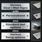 Various Wall / Door Signs / Name Plaques for Office / Retail / Hotel / B&B etc