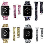 For Apple Watch Band iWatch Leather Glitter Wrist Strap Bling Series 1 2 3 New image