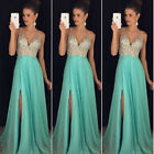 Women Formal Wedding Bridesmaid Long Evening Party Ball Prom Cocktail Dress