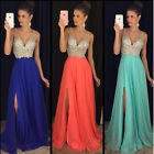Women Formal Wedding Bridesmaid Long Evening Party Ball Prom