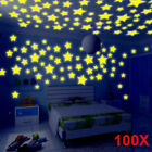 100pc Glow Star Luminous Removable Wall Sticker for Kids Nursery Room Home Decor