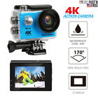 Ultra HD Action Camera 4K WIFI HDMI Waterproof Case Driving Accessories Blue US