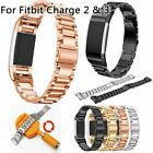 Luxury Stainless Steel Wrist Watch band Strap Bracelet For Fitbit Charge 3 2 image