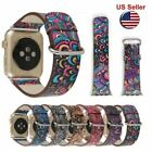 Colorful Leather Band Strap & Adapter for Apple Watch series3 2 1 iWatch 38 42mm image